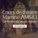 Les auditions sont ouvertes cours de théâtre Martine Amsili